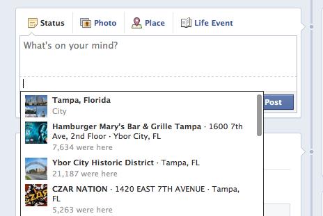 facebook updating status