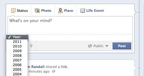 facebook timeline status