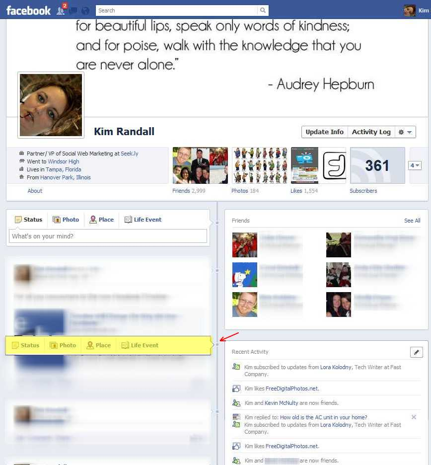 add an event to facebook timeline