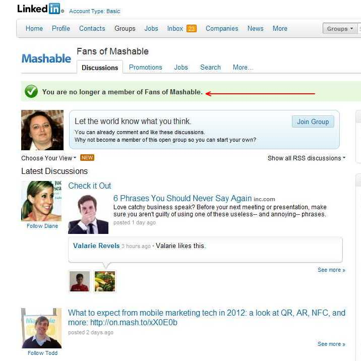 [Tutorial] How To Leave A LinkedIn Group