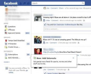 Facebook int 300x243 New Facebook Feature: Create and Follow Interest Lists
