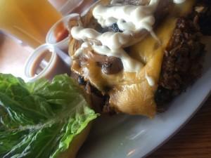 Burger Monger vegetarian burger